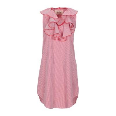 LA RITZ ミニワンピース&ドレス レッド S コットン 100% ミニワンピース&ドレス
