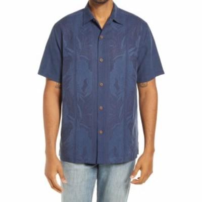 トミー バハマ TOMMY BAHAMA メンズ シャツ トップス Tahitian Border Classic Fit Silk Shirt Navy