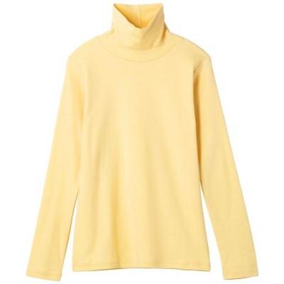 UVカットルーズネックTシャツ(長袖)(2丈展開・綿100%・洗濯機OK)/ソフトマスタード/S-レギュラー