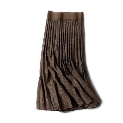 【セール】スカート ロング レディース SI スカート ハイウエスト マキシスカート 秋冬 フレアスカート 無地 大きいサイズ おしゃれ