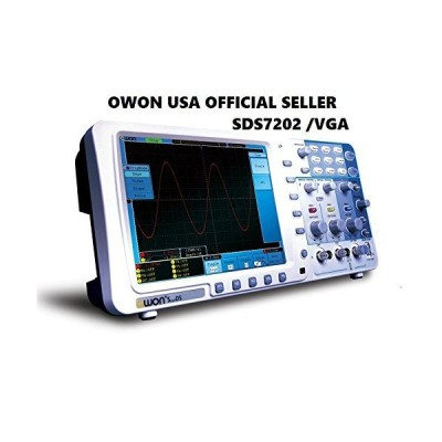 Owon SDS7202 200MHz 1GS/s Deep Memory Digital Storage Oscilloscope, 2+1 Channel with VGA and LAN Interface