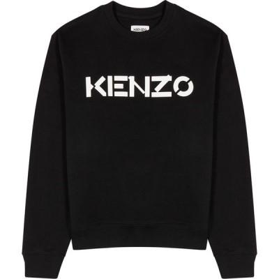 ケンゾー Kenzo メンズ スウェット・トレーナー トップス black logo cotton sweatshirt Black
