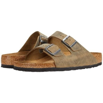 ビルケンシュトック Arizona Soft Footbed - Leather (Unisex) メンズ サンダル Khaki Oiled Leather