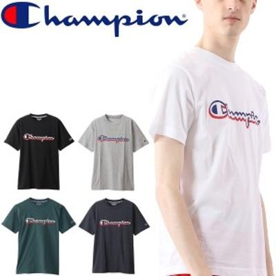 半袖 Tシャツ メンズ/チャンピオン Champion スポーツウェア 速乾 UVカット トレーニング 男性 ロゴ プリントT カジュアル 普段使い トッ