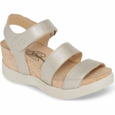 フライロンドン FLY LONDON レディース サンダル・ミュール ウェッジソール シューズ・靴 Weko Platform Wedge Sandal Silver Borgogna L