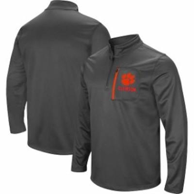 Stadium Athletic スタジアム アスレティック スポーツ用品  Colosseum Clemson Tigers Charcoal Fleece Quarter-Zip Pullover Jacket