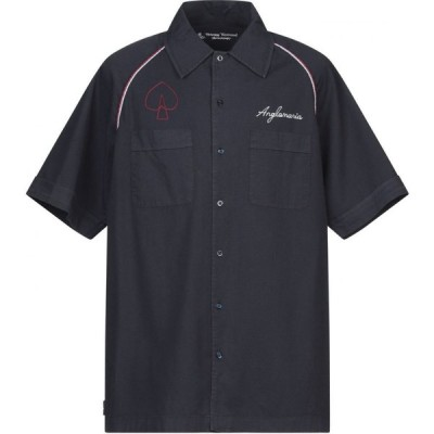 ヴィヴィアン ウエストウッド VIVIENNE WESTWOOD ANGLOMANIA メンズ シャツ トップス solid color shirt Dark blue