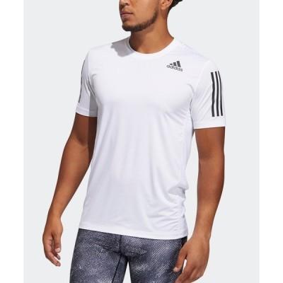 tシャツ Tシャツ テックフィット 3ストライプス フィッティド 半袖Tシャツ [Techfit 3-Stripes Fitted Tee] アディダ