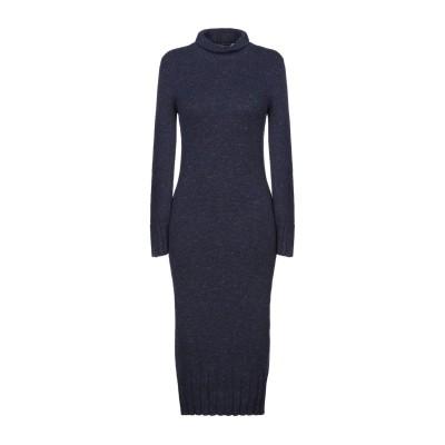 ジェントリーポルトフィーノ GENTRYPORTOFINO 7分丈ワンピース・ドレス ブルー 40 カシミヤ 100% 7分丈ワンピース・ドレス