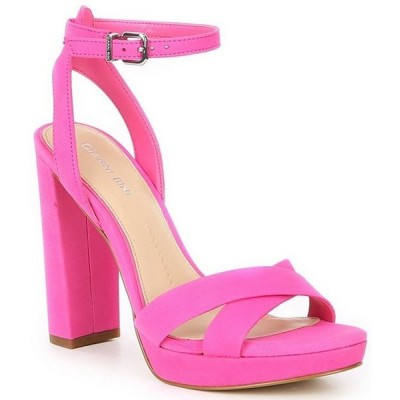 ジャンビニ レディース サンダル シューズ Veeniz Leather Block Heel Dress Sandals