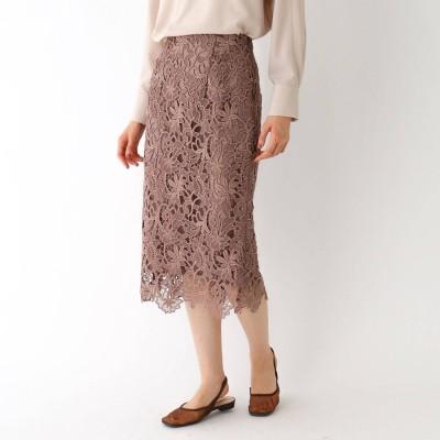 エージー バイ アクアガール AG by aquagirl フラワーレースタイトスカート (サンドベージュ)
