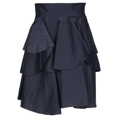 ジョルジオ アルマーニ GIORGIO ARMANI ひざ丈スカート ダークブルー 42 ラミー 80% / シルク 20% ひざ丈スカート