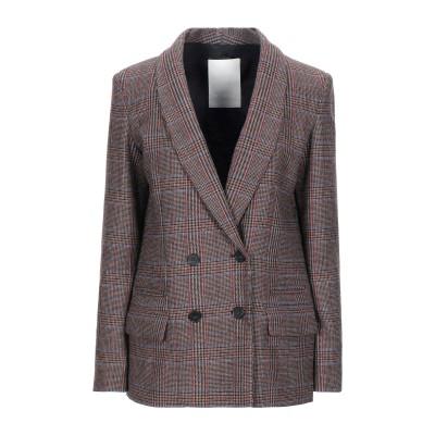 P_JEAN テーラードジャケット ブラウン 42 ポリエステル 37% / ウール 32% / レーヨン 18% / 合成繊維 10% / シルク