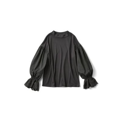 フェリシモ キュッとふんわり バルーンスリーブTシャツ
