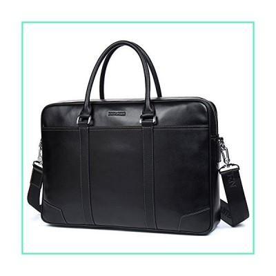 BOSTANTEN Leather Briefcase Messenger Business Bags Laptop Handbag Black並行輸入品