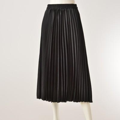 CARRIERE マロンサテンプリーツスカートキャリール(CARRIERE)No.674519 通販 - QVCジャパン