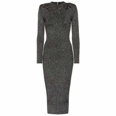 クリストファー ケイン Christopher Kane レディース ワンピース ワンピース・ドレス Embellished sweater dress Black/Silver