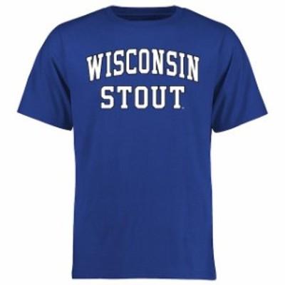 Fanatics Branded ファナティクス ブランド スポーツ用品  Wisconsin Stout Blue Devils Royal Everyday T-Shirt