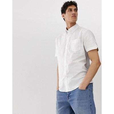 【当日出荷】 ベンシャーマン メンズ Ben Sherman short sleeved oxford shirt White  【サイズ M】