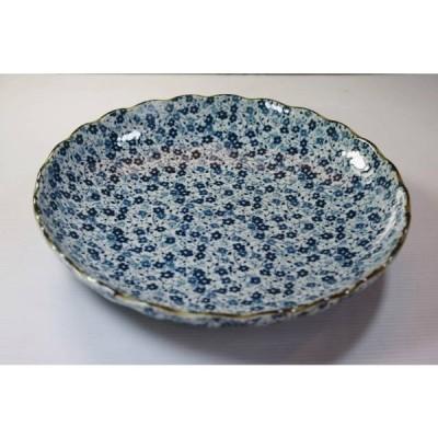藍染小花菊型8寸皿23.2cm★アウトレット品★HSP OZ321
