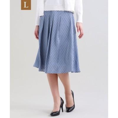 スカート 【L】【ウォッシャブル】ドングリングサテンスカート