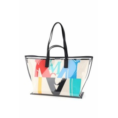 MCM/エムシーエム トートバッグ MULTI Mcm medium tpu and canvas tote bag with logo レディース 秋冬2020 MWPAAMH03 ik