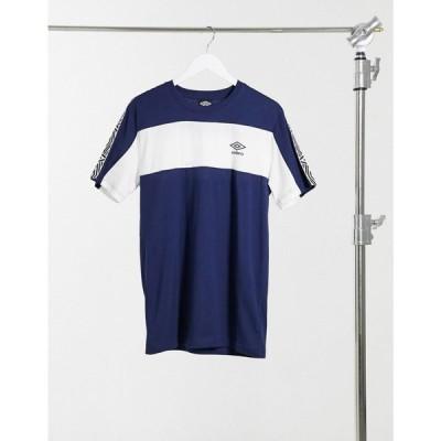 アンブロ Umbro メンズ Tシャツ トップス Surf Crew Neck Taped T-Shirt In Navy ネイビー/ホワイト