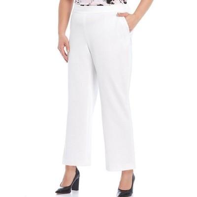 カスパール レディース カジュアルパンツ ボトムス Plus Size Drapy Crepe Elastic Back Ankle Pants