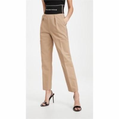 アレキサンダー ワン Alexander Wang レディース ボトムス・パンツ Straight Leg Trousers with Logo Elastic Chino