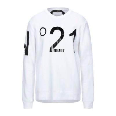 ヌメロ ヴェントゥーノ N°21 スウェットシャツ ホワイト XS コットン 100% スウェットシャツ