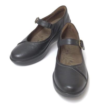 アキレスソルボ レディース 244 SRL2440 クロ 厚底 パンプス ストラップ ウォーキング コンフォート 履きやすい靴 立ち仕事 疲れにくい靴 歩きやすい靴 旅行靴