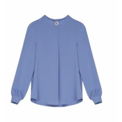 レディース ブラウス ロングシャツ 長袖 トップス カジュアル M L XL 2XL 3XL 大きいサイズ