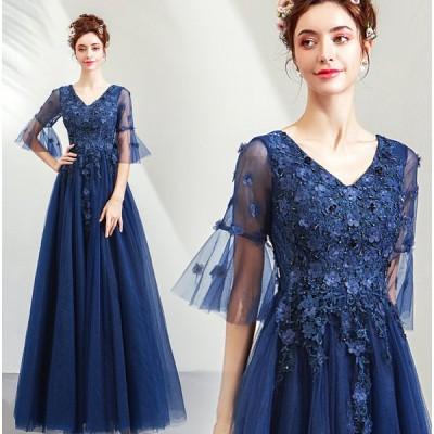 ウエディングドレス ブライズメイド ブライダル パーティードレス 安い 可愛い 結婚式 披露宴 Aライン カラードレス モチーフ 花