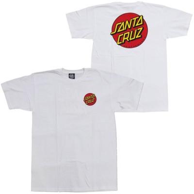 SANTA CRUZ・サンタクルーズ・CLASSIC DOT CHEST・ホワイト・Tシャツ