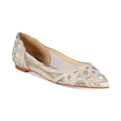 バッジェリー ミシュカ Badgley Mischka レディース スリッポン・フラット シューズ・靴 Gigi Pointed-Toe Evening Flats Ivory