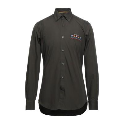 ポール・アンド・シャーク PAUL & SHARK シャツ ミリタリーグリーン 39 コットン 100% シャツ