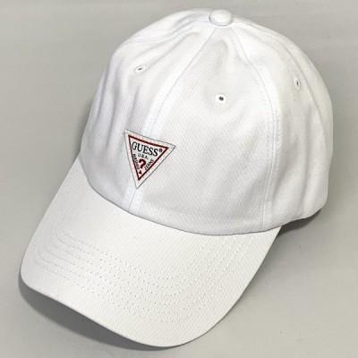 GUESS TWILL LOW CAP ゲスツイル ロウ キャップ カジュアル スポーツ アウトドア 普段使い オールシーズン ホワイト系