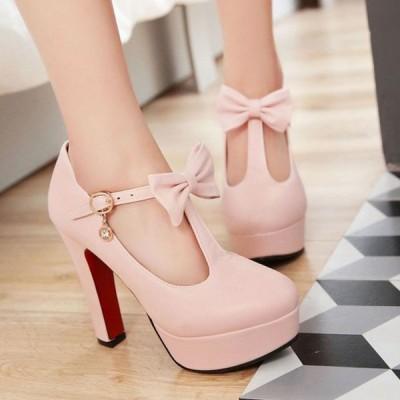 ヒール12cm/サイズ22-24.5cm パンプス  痛くない ハイヒール レディース  レディースシューズ 靴  パーティー 結婚式 リベット ベルト 美脚