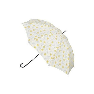 男女兼用 おしゃれでかわいい雨傘 小花・リーフ 手開き傘 (オレンジ)