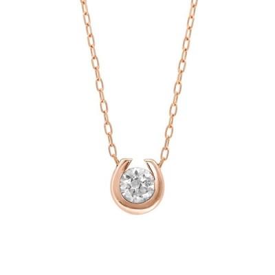 ネックレス 【ESTELLE/エステール】【WEB限定商品】K10 ピンクゴールド ダイヤモンド 馬蹄モチーフ ネックレス
