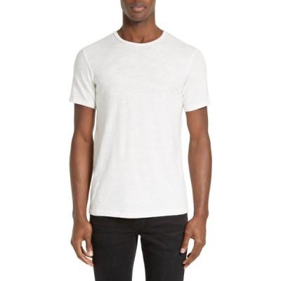 ラグ&ボーン RAG & BONE メンズ Tシャツ トップス Slim Fit Slubbed Cotton T-Shirt White