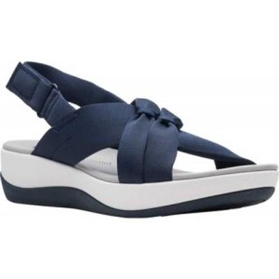 クラークス Clarks レディース サンダル・ミュール シューズ・靴 Arla Belle Slingback Sandal Navy Textile