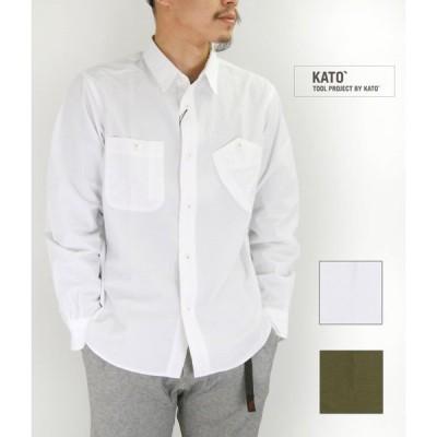 メンズ 長袖シャツ カトーベーシック(KATO' BASIC) コットンワークシャツ KS812231