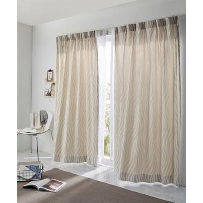 【1cm単位オーダー】ウェーブ柄カーテン(1枚) ドレープカーテン(遮光あり・なし) Curtains, blackout curtains, thermal curtains, Drape(ニッセン、nissen)