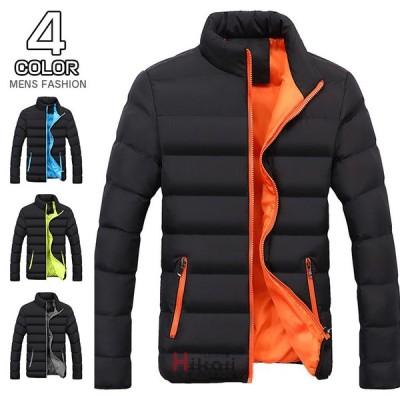 中綿ジャケット メンズ アウター ジャケット 中綿入り 冬ジャケット ブルゾン ジャンパー キルティング 防寒 無地