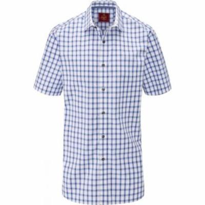 スコープス Skopes メンズ 半袖シャツ トップス Cotton Casual Short Sleeve Shirts Blue