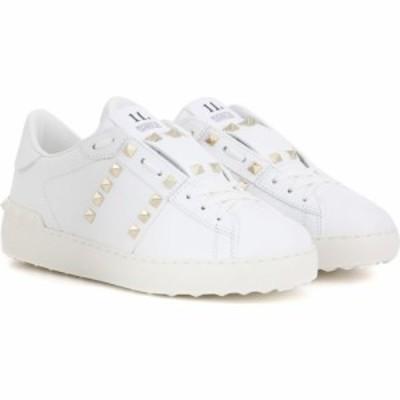 ヴァレンティノ Valentino レディース スニーカー シューズ・靴 garavani rockstud untitled leather sneakers White/Gold