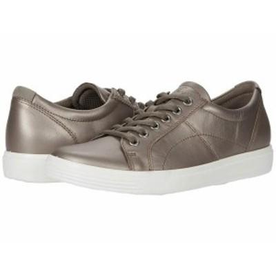 エコー レディース スニーカー シューズ Soft Classic Lace Sneaker Stone Metallic/Warm Grey