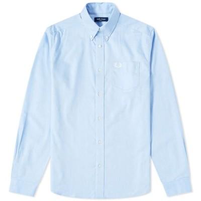 フレッドペリー Fred Perry Authentic メンズ シャツ トップス Button Down Oxford Shirt Light Smoke