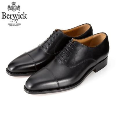 バーウィック BERWICK ストレートチップ  内羽根 紳士靴 革靴 ビジネスシューズ  ブラック 2428  レザーソール BOXカーフ素材 グットイャー製法 スペイン製
